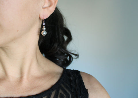 Silver Bauble dangle earrings