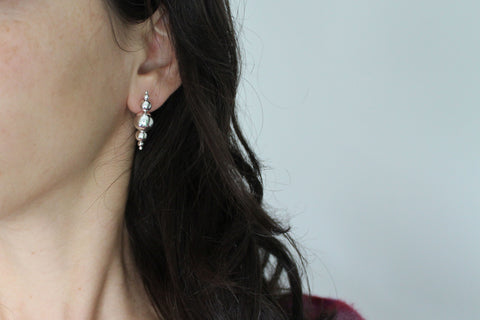 Silver Bauble stud earrings