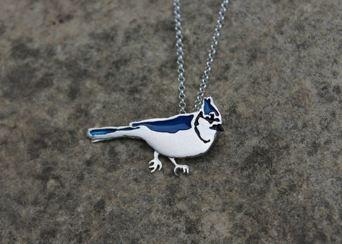 Blue Jay Necklace