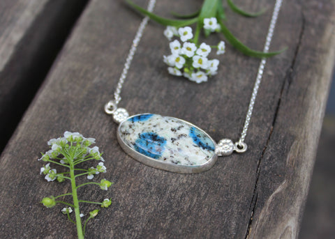 Flower Field Necklace with Jasper