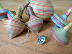 Blue Topaz Spinning Top Necklace