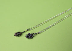 Seed cone necklace in sterling silver