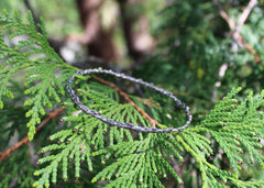 Cedar Twig Bangle in sterling silver