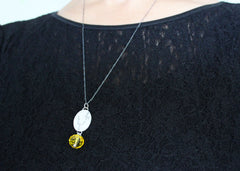 Last leaves Coin Necklace in Sterling silver 2