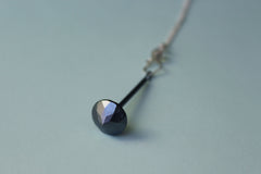 Oxidized Silver Spinning Top Necklace