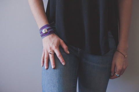 Deciduous Wrap Bracelet in Purple