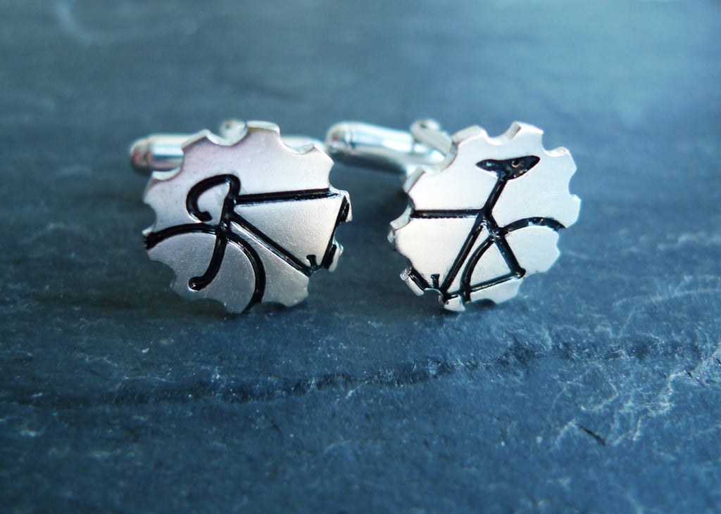 Bicycle Cufflinks in Black