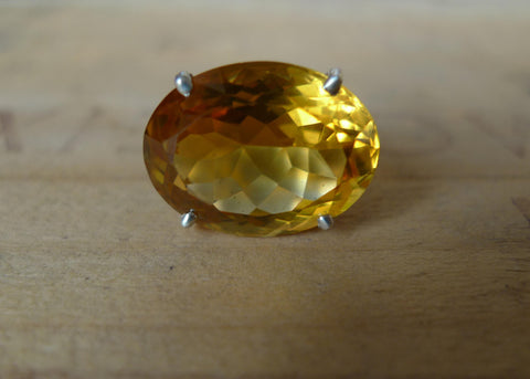 Showstopper Yellow Topaz Lost & Found Cocktail Ring - ready to ship size 6