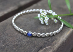 Infinite Blooms bracelet with reclaimed star Sapphire in sterling silver