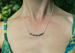 Cedar Twig necklace 1 in sterling silver