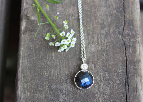 Moonbeam Necklace with Labradorite
