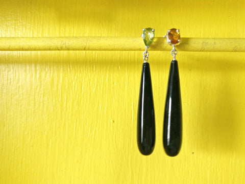 Refract Earrings Onyx