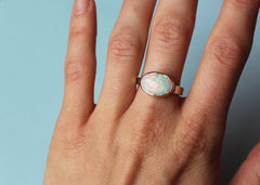 Opal Lost & Found Ring in white and yellow gold - ready to ship size