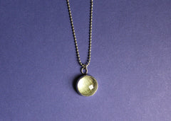 Green Amethyst Gem Necklace