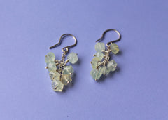 FROZEN Earrings with Prehnite in Sterling Silver