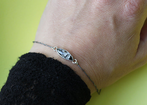 First frost bracelet with Rutilated Quartz in Sterling silver