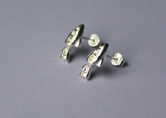 Silver Spaceship: Out of this World Mix and Match Stud earrings in sterling Silver
