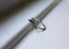 Bare Branches Triangular Signet ring  - Ready to ship in size 5