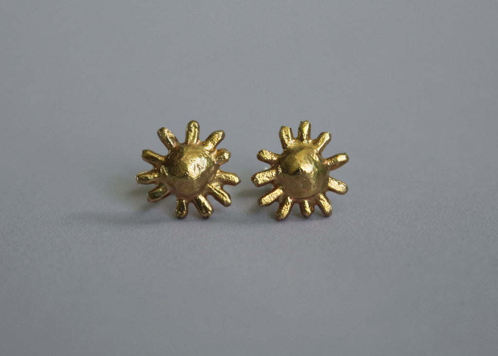 Sun: Out of this World Mix and Match Stud earrings in Brass and Silver