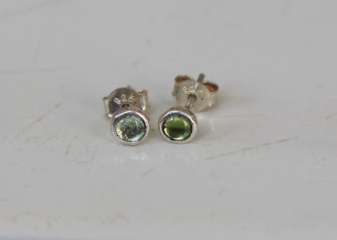 Reclaimed Tourmaline Stud Earrings