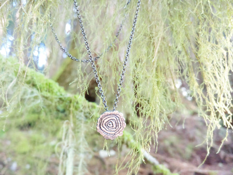 Tree rings Necklace