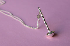 Twist Silver Spinning Top Necklace