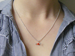 H2O water molecule necklace