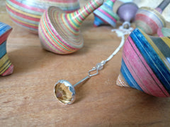 Yellow Topaz Spinning Top Necklace