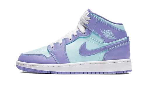 Jordan 1 Mid Purple Aqua GS