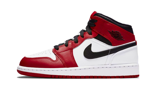 Jordan 1 Mid Chicago White Heel