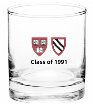 Harvard Class of 1991, 30th Reunion - Whiskey Glass