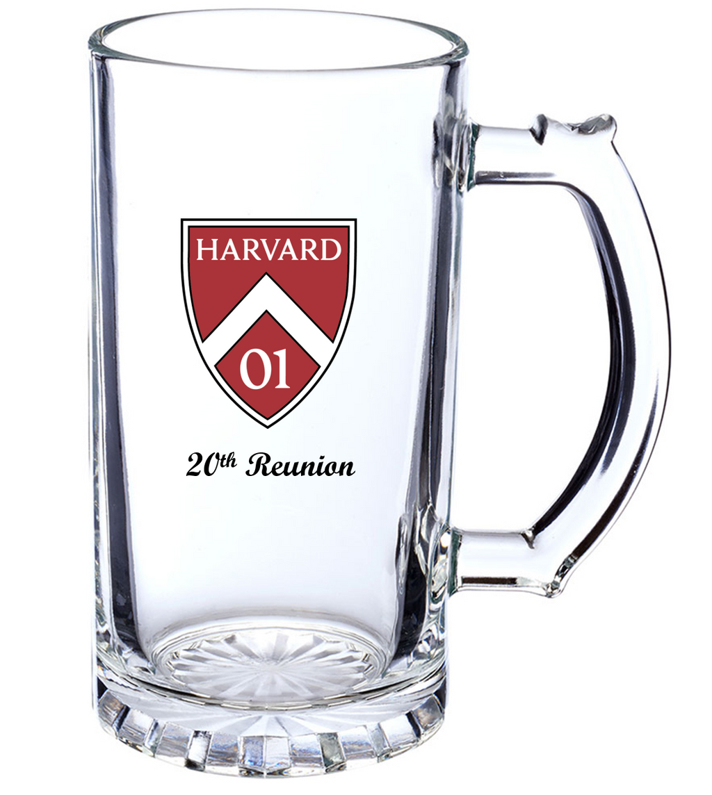 Harvard Class of 2001 20th Reunion Beer Stein