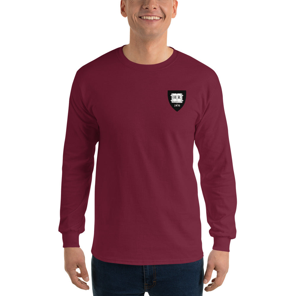 50th Reunion - Gildan Unisex Longsleeve Shirt (Crimson & Black Logo)