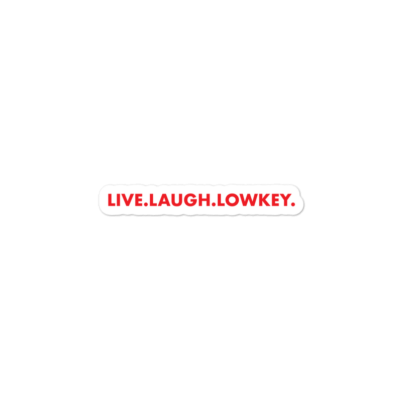 Lowkeys - Red Horizontal Laptop Sticker