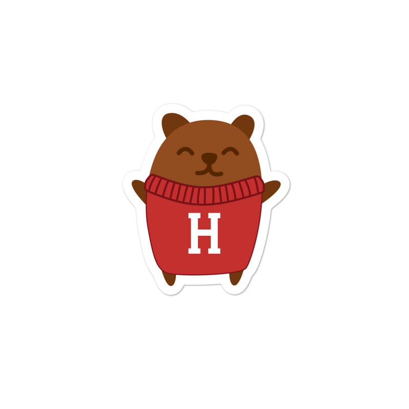 Harvard Laptop Stickers - Bear