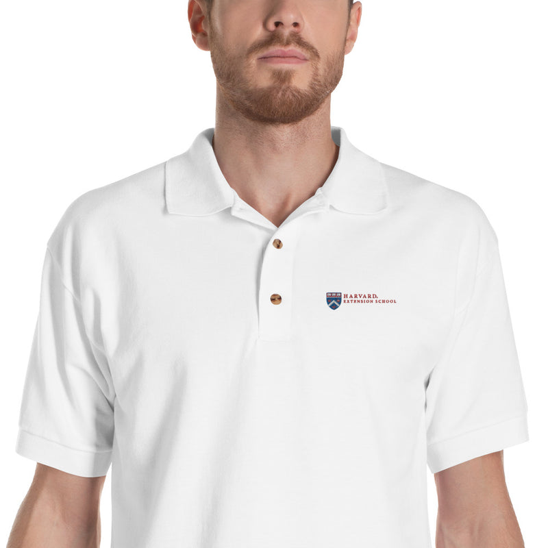 Extension School Title Embroidered Polo Shirt