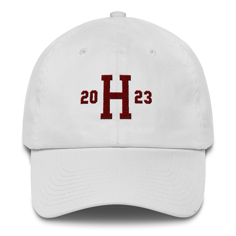 Harvard Class of 2023 White Dad Cap