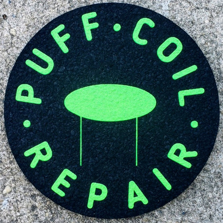 "8"" GREEN GLOW IN THE DARK PUFFCOIL MOODMAT"