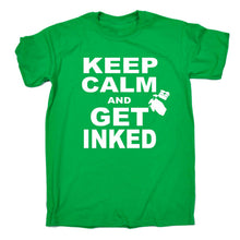 Keep Calm and Get Inked Men's and Ladies T-Shirt