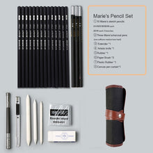 Sketch pencil set with case
