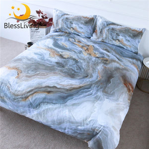 3pc Marble Duvet Cover Art Abstract Bedding Set