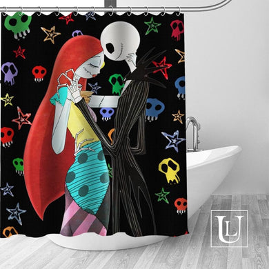 Artistic Nightmare Before Christmas shower curtain