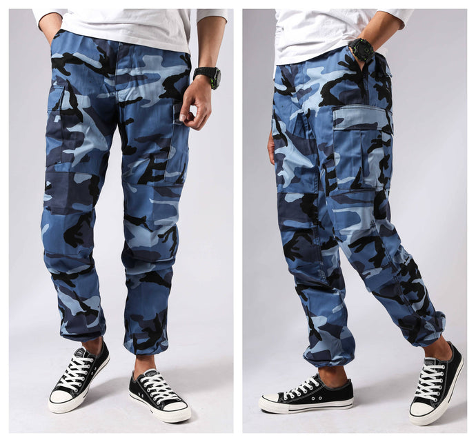 Mens Casual Camouflage Cargo Pants