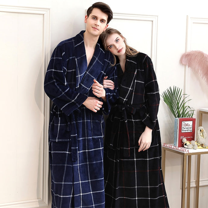 Long Flannel Bathrobe