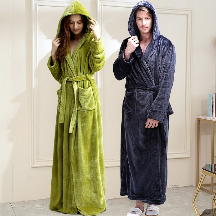 Hooded Fleece Bathrobe