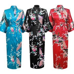 Long Style Loose Japanese Yukata Robe
