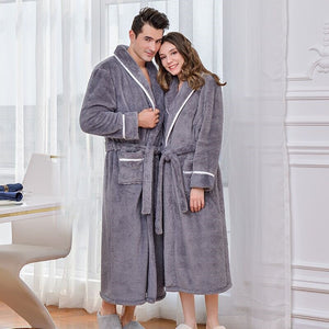 Fluffy Plush Bath Robe