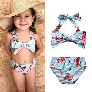 2Pcs Baby Girls Floral Bikini Ladies