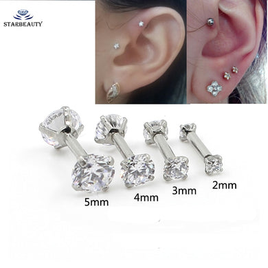 1Pc Earring 2-5mm Internally Threaded 16G