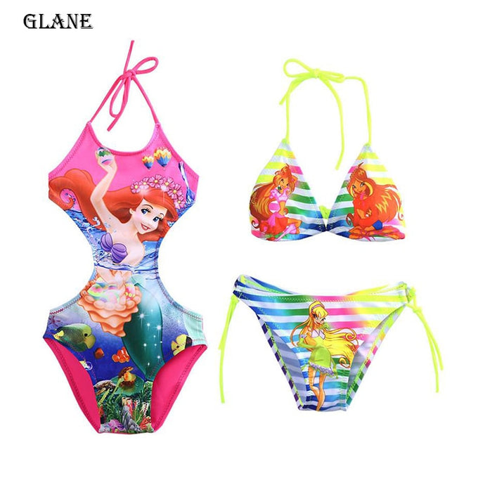 2-10T Mermaid Girls Swimsuit Ladies